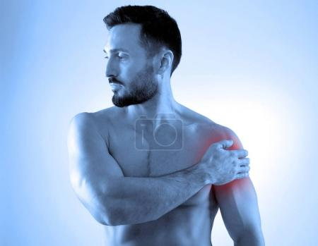 Shoulder pain concept