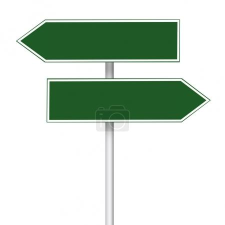 Pole road sign