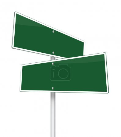 Traffic signs on white