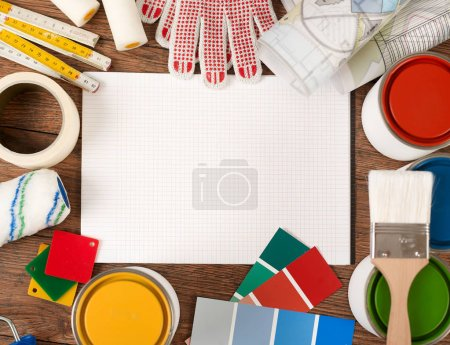 Notebook and painting tools