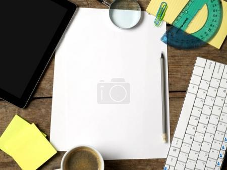 Blank paper on office desk