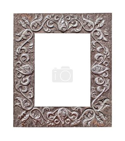 Metallic frame on white