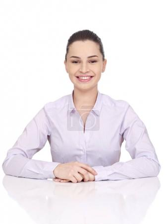 Young woman at desk