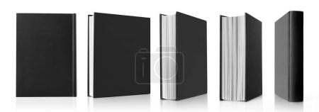 Photo for Black book in different positions - Royalty Free Image