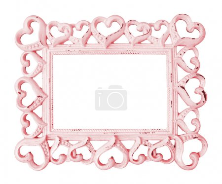 Vintage frame on white