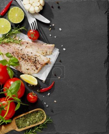 filet de poisson frais