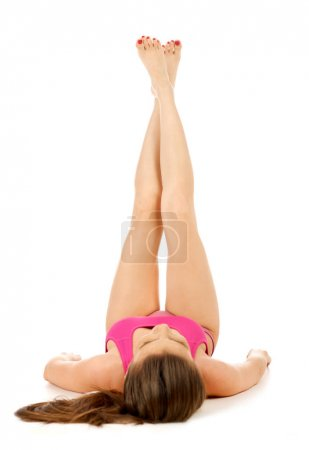 Beautiful legs isolated on white
