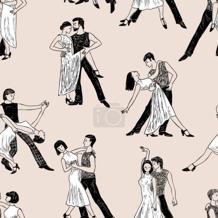 pattern of the dancing couples
