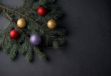 Christmas decorations with branches unctions Christmas balls