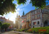 Old city square in Przemysl, Poland
