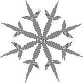 Line snowflake silhouette 02