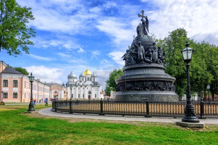 Millennium Monument and St Sophia Cathedral, Novgorod, Russia