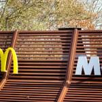 Nikolaev, Ukraine - November 16 2019 Logo McDonald...
