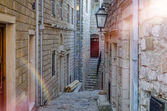 Old narrow street in Ulcinj
