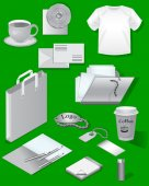 Mock-up for a business or company. Set of isolated objects. Vector illustration.