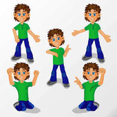 Boy child is a man in different poses and different gestures for decoration of creativity