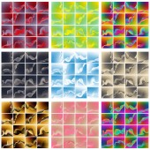 A very large collection of colored backgrounds in various color combinations
