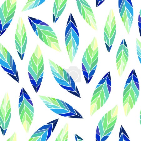 Photo for Seamless pattern with bird feathers. Vector illustration - Royalty Free Image