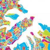 Valetta Malta Colorful Vector Map