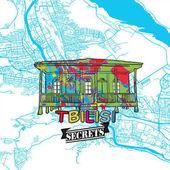 Tbilisi Travel Secrets Art Map