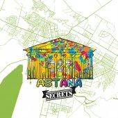 Astana Travel Secrets Art Map