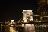 Chain Bridge in budapest Hungary at night time
