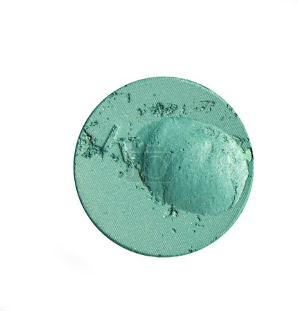 Crumbled green eyeshadow