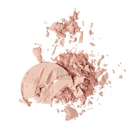 scattered pink powder