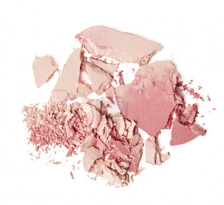 crumbled pink blush and powder