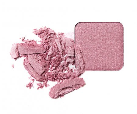 Crushed pink eye shadow