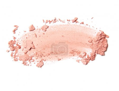 Photo for Pink eye shadow stroke isolated on white background - Royalty Free Image