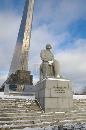 The Monument to Tsiolkovsky, Moscow, Russia
