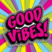Pop art fashion chic GOOD VIBES sticker