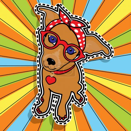 Pop art fashion chic LADY DOG