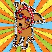 Pop art fashion chic LADY DOG