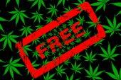 Marijuana leaf pattern and rubber stamp free
