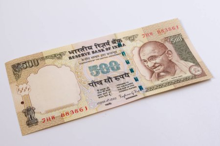 Крупным планом Индия рупия 500