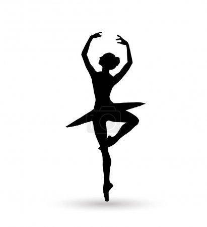 Ballerina. Dance girl silhouette isolated on white background. Ballerina. Ballet banner. Vector illustration. Ballet dancer, princess, ballerina silhouette, ballerina girl, ballerina isolated, ballerina vector