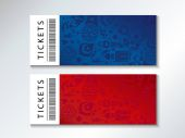2018 World Cup Russia Football FIFA Abstract football tournament ticket template red blue background dynamic texture modern concept banner Vector world cup competition Championship soccer wallpaper voucher coupon Russian folk art elements pattern