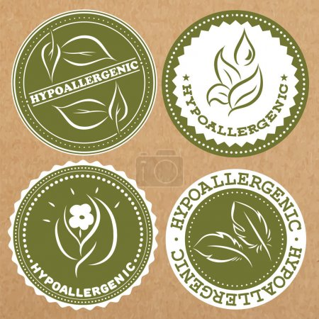 Set of hypoallergenic badges, icons, sticker layou...