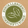 Hypoallergenic green label, badge with leaves for ...