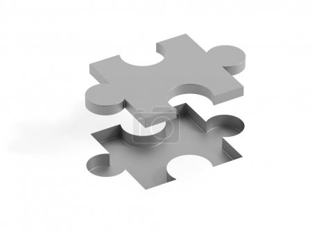 Photo for Jigsaw background, teamwork and strategy concepts, original 3d rendering - Royalty Free Image