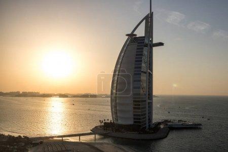 DUBAI - CIRCA JANUARY 2017: the iconic Burj Al Arab luxury hotel