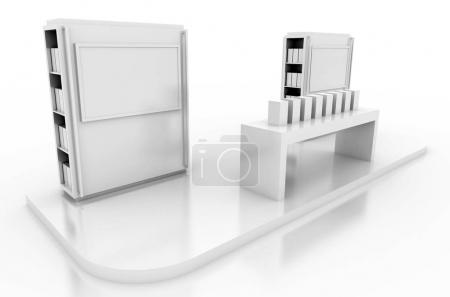 Original trade display, isolated on white
