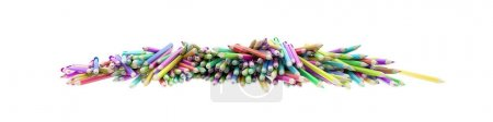 Infinite pencils background, education and creativity theme