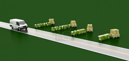 Photo for Logistics industry conceptual image, original 3d rendering and models - Royalty Free Image