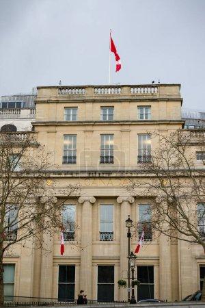 Photo pour London, United Kingdom, March 8th 2020:- Canada House in Trafalgar Square - image libre de droit