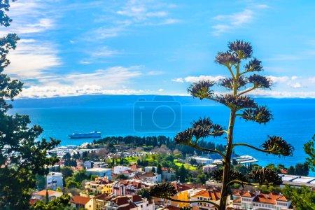 Split landscape Mediterranean scenic. / Aerial view at amazing mediterranean summer landscape in Croatia, Split city scenery.