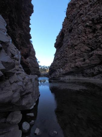Dark waters of Simpsons Gap