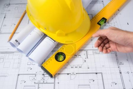 Construction plans with drawing tools